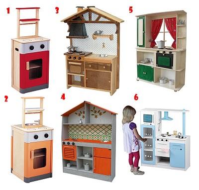 Cocinas De Madera Para Los Niños Mamis Y Bebés
