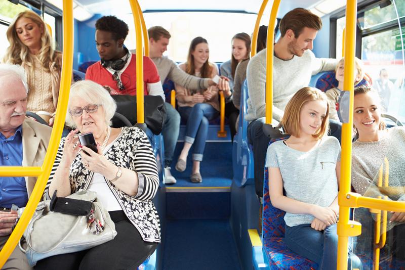 interior de autobus
