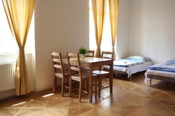 little town hostel room