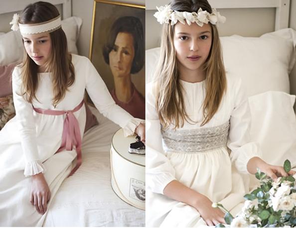 teresa y leticia1 Vestidos de comunión diferentes