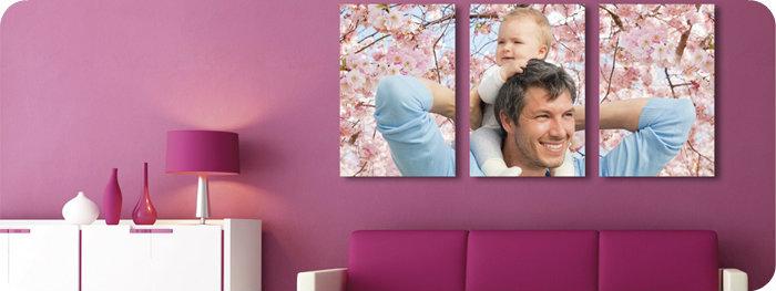 Cuadros cuadros abstractos decorativos tripticos modernos - Cuadros con fotos familiares ...