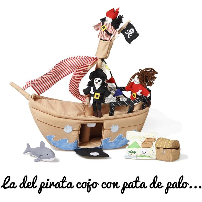 Oskar y Ellen barco pirata