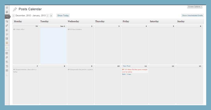 Plugin Calendario