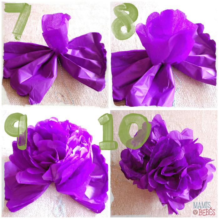 Diy pompones de papel de seda aprendemos a hacerlos - Pompones con papel de seda ...