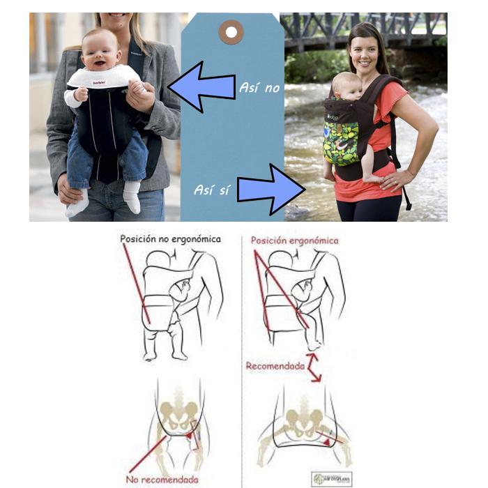 Porteo ergonomico vs no ergonomico