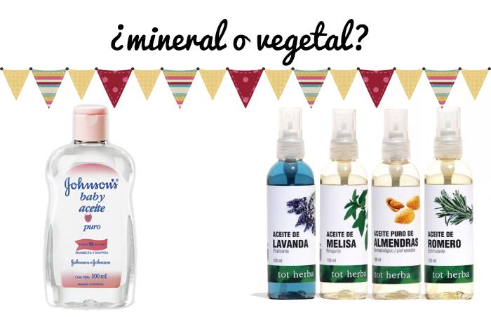 aceite mineral o vegetal