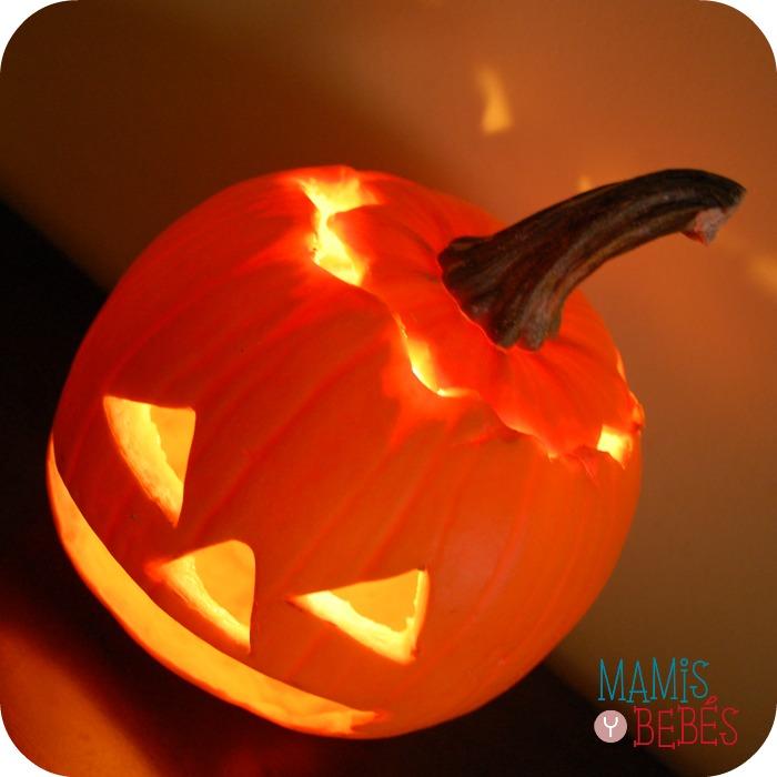 Como hacer una calabaza de halloween mamis y beb s - Hacer calabaza halloween ...