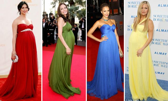 Actrices embarazadas red carpet