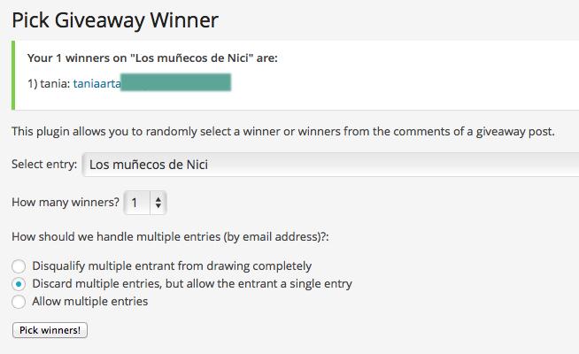 Ganadora Nici