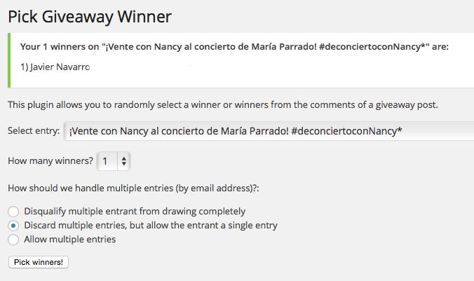Ganador entradas Nancy