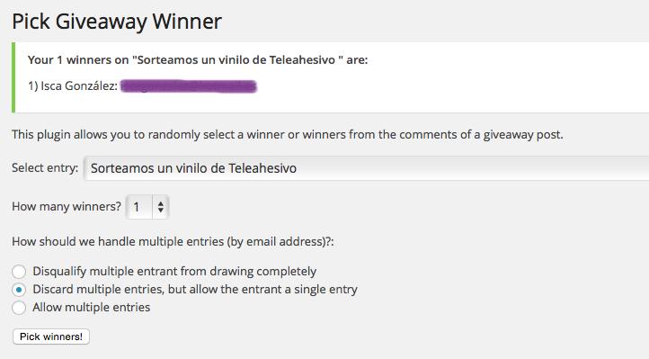 Ganadora Teleadhesivo