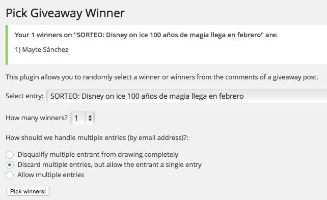Ganadora Disney on Ice