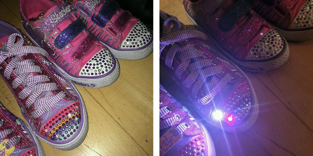 Skechers luminosas