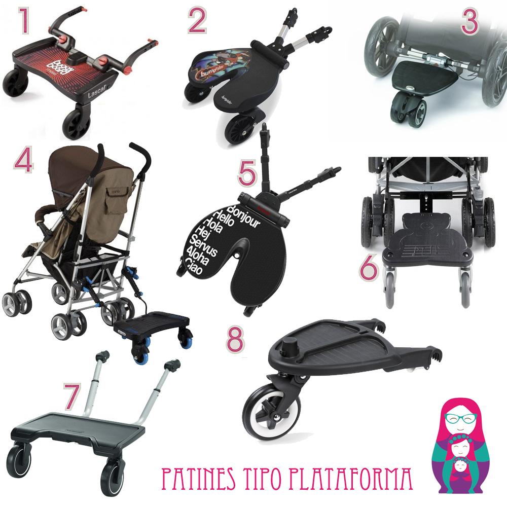 patines tipo plataforma para carrito bebe
