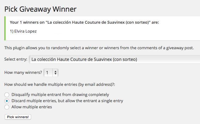 Ganadora Suavinex