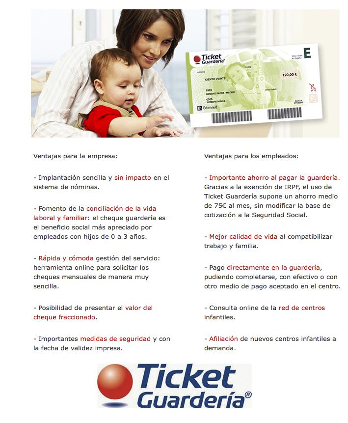 Ticket guarderia