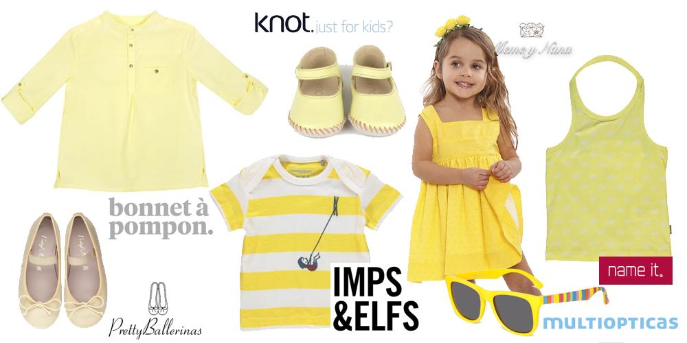ropa infantil amarillo