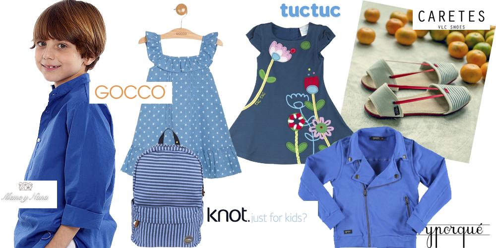 ropa infantil azul