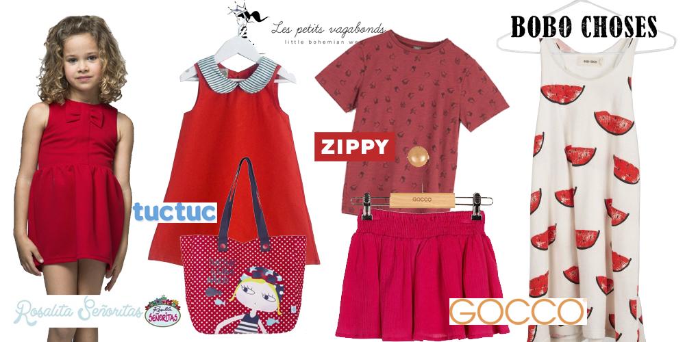 ropa infantil rojo