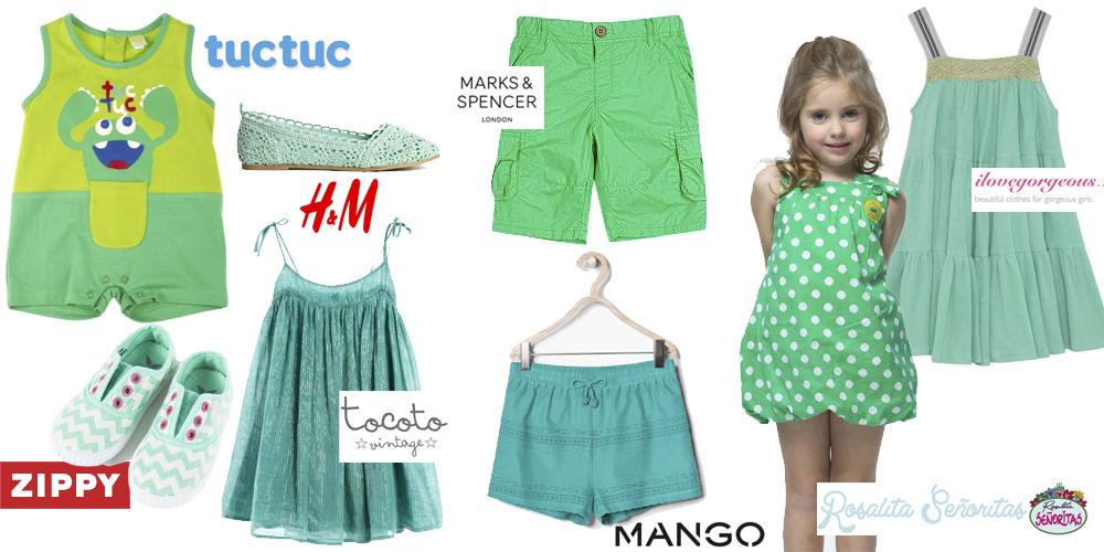 ropa infantil verde