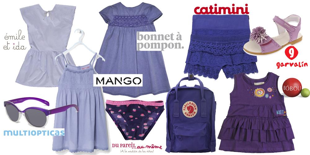 ropa infantil violeta