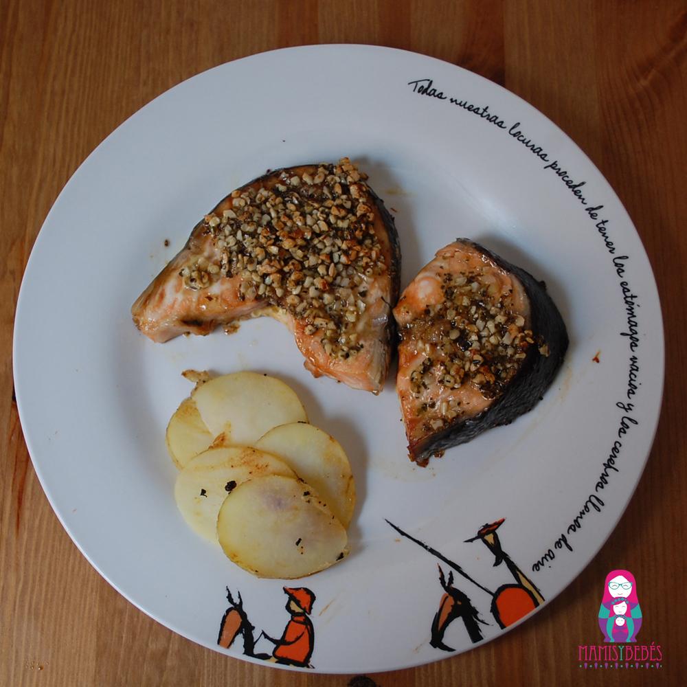 plato salmon con costra