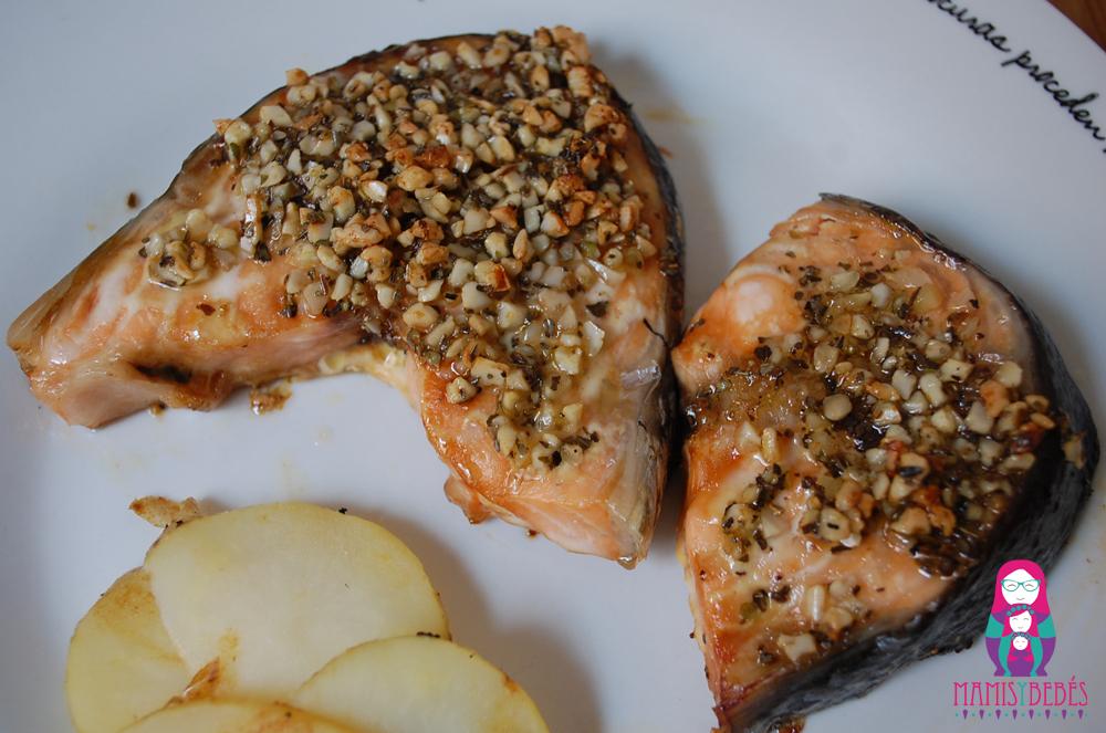 Salmon con costra