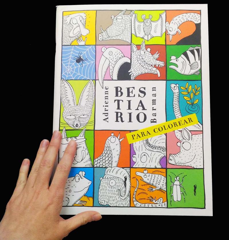 Libros de actividades para el verano para toda la familia. Bestiario para colorear
