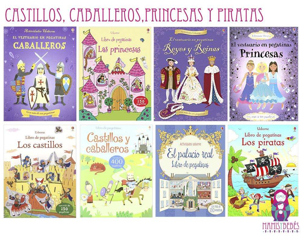 libros de pegatinas castillos princesas