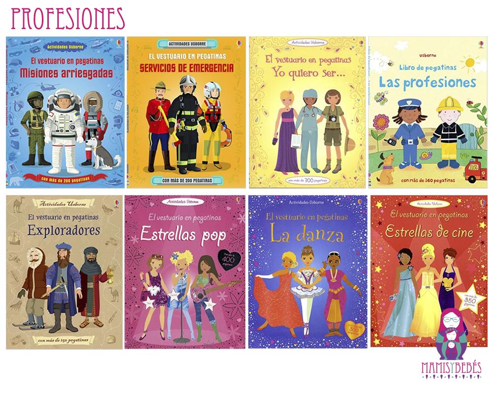 libros de pegatinas de profesiones