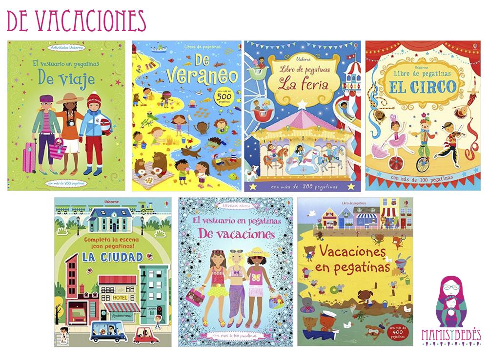 Libros de pegatinas de vacaciones