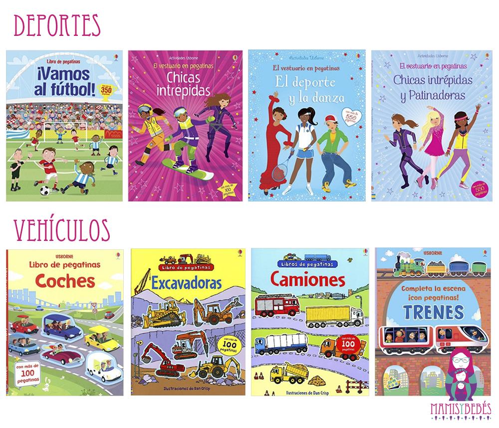Libros de pegatinas deportes y vehiculos