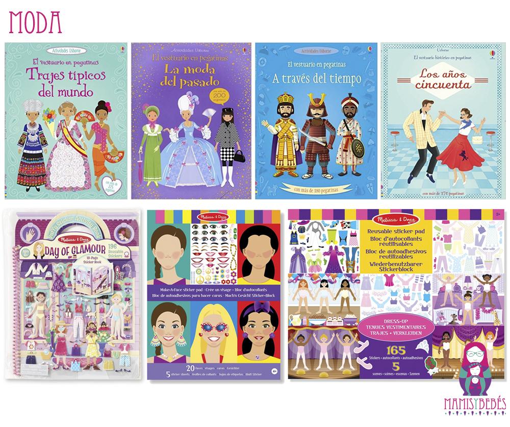 Libros de pegatinas moda