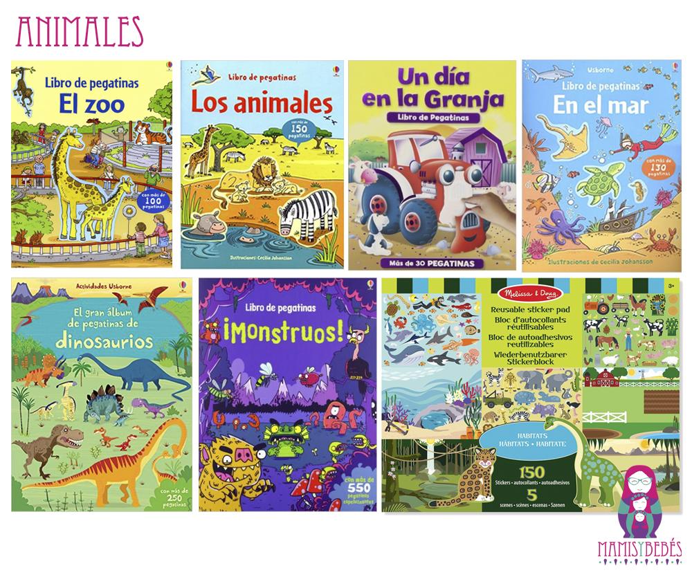 libros pegatinas animales
