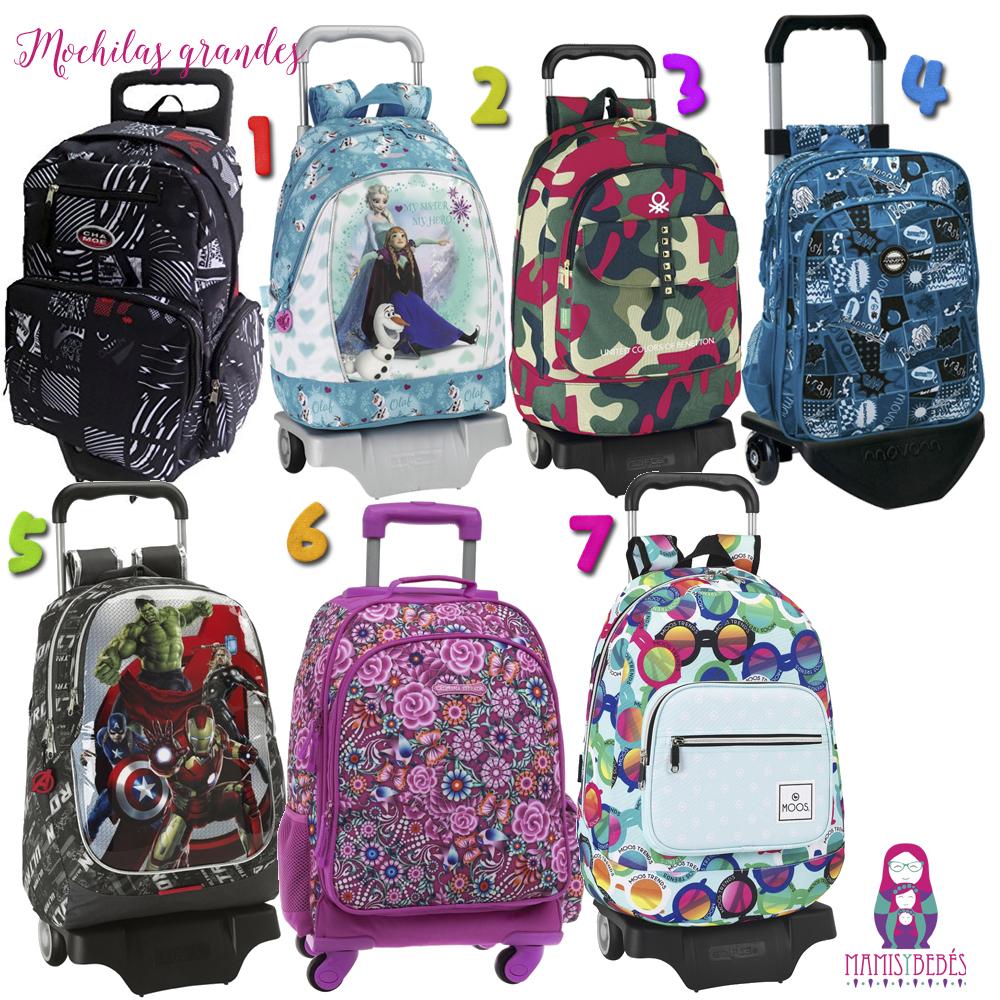mochilas escolares con carro vuelta al cole