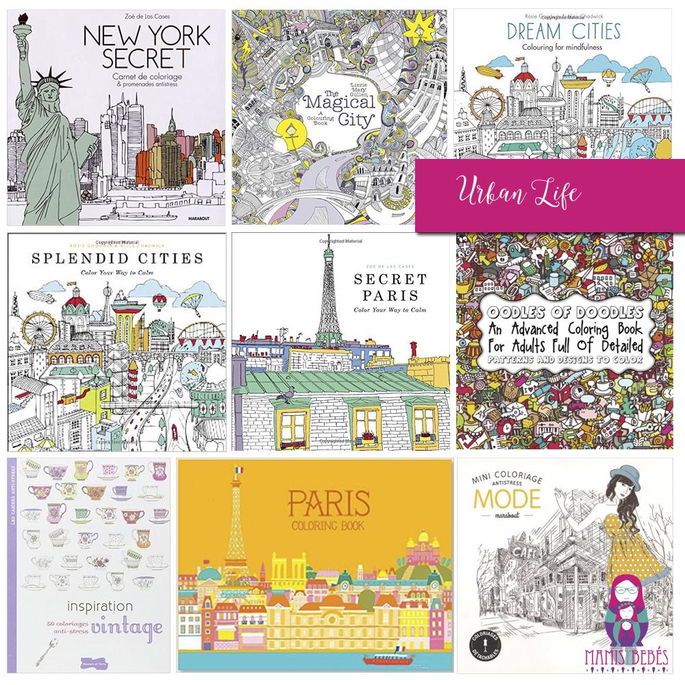 cuadernos para colorear paris