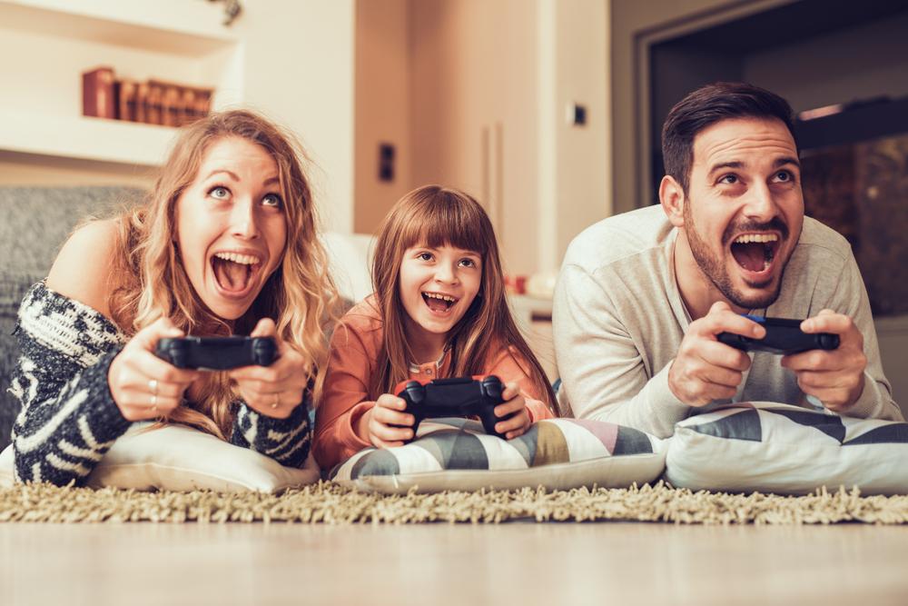 familia jugando Tiempo de calidad