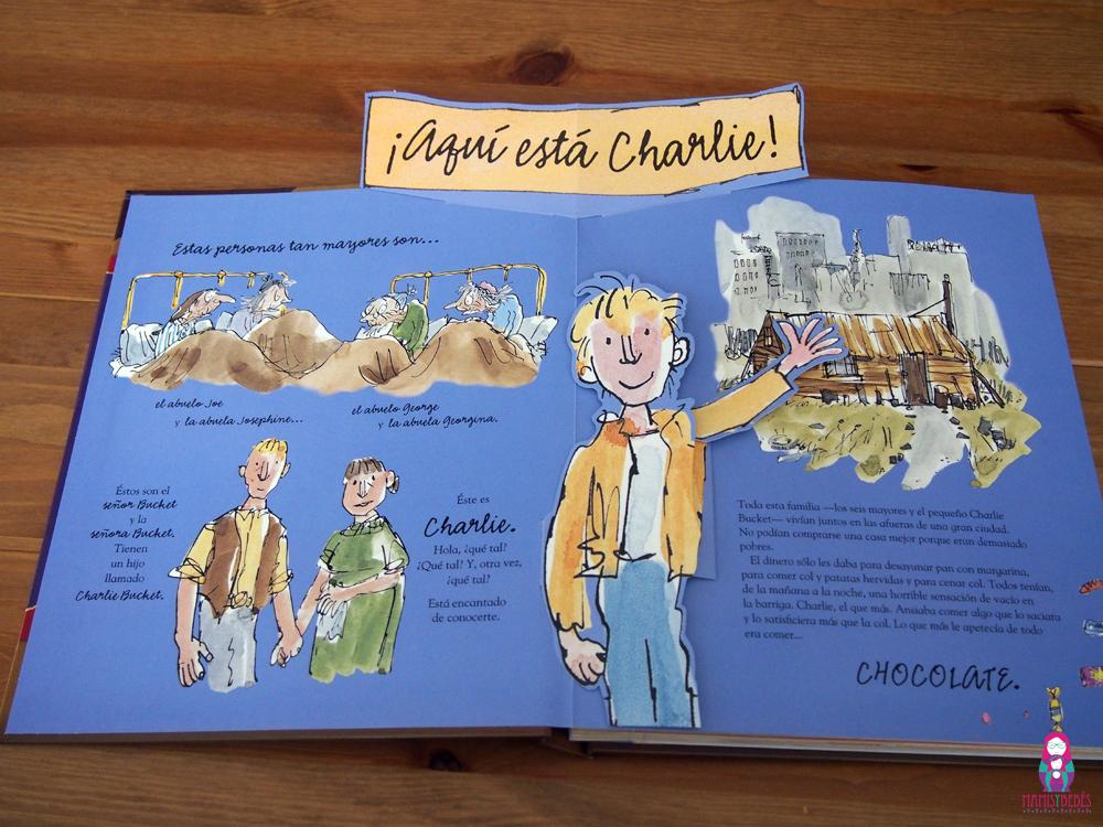 Charlie y la fabrica de chocolate pop up