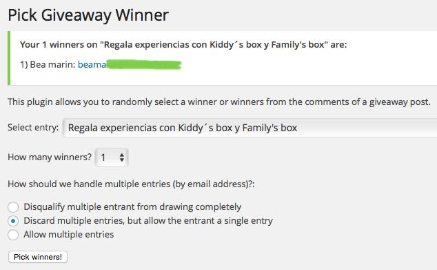 Ganadora Kiddy Box