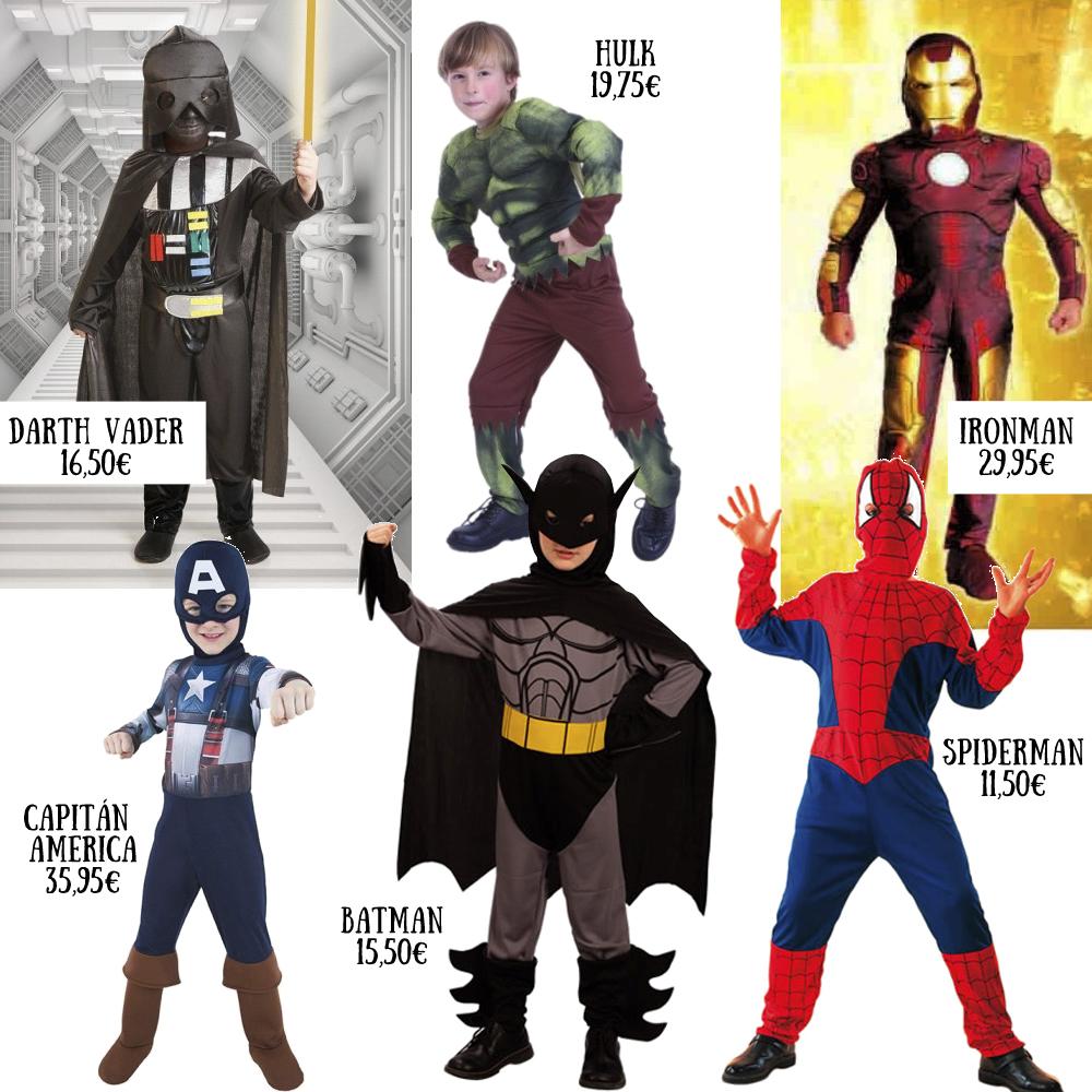 Disfraces de superheroes