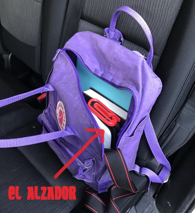 Alzador mifold en mochila
