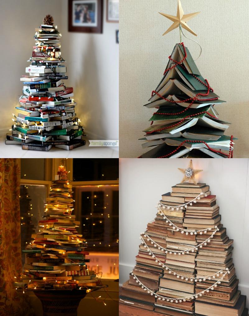 árboles de navidad de libros