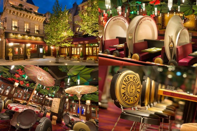 Restaurante Chez Remy. Comer en Disneyland París