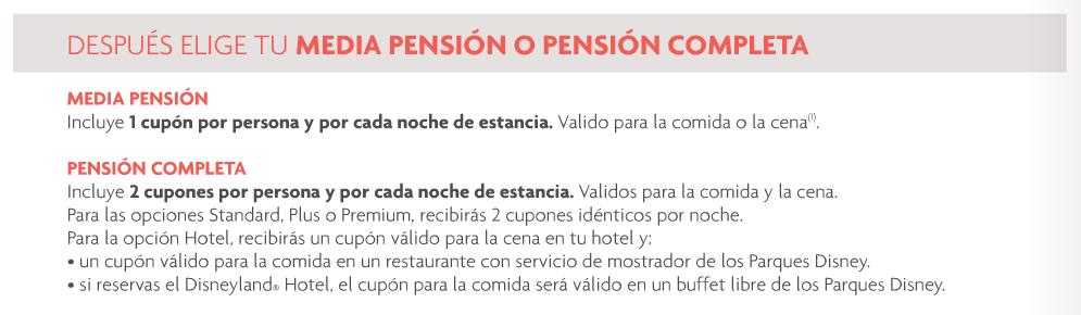 opciones de pension disneyland paris