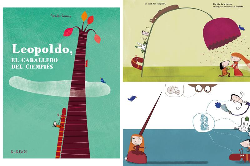 Libros infantiles para San Valentín. Leopoldo el caballero del ciempies