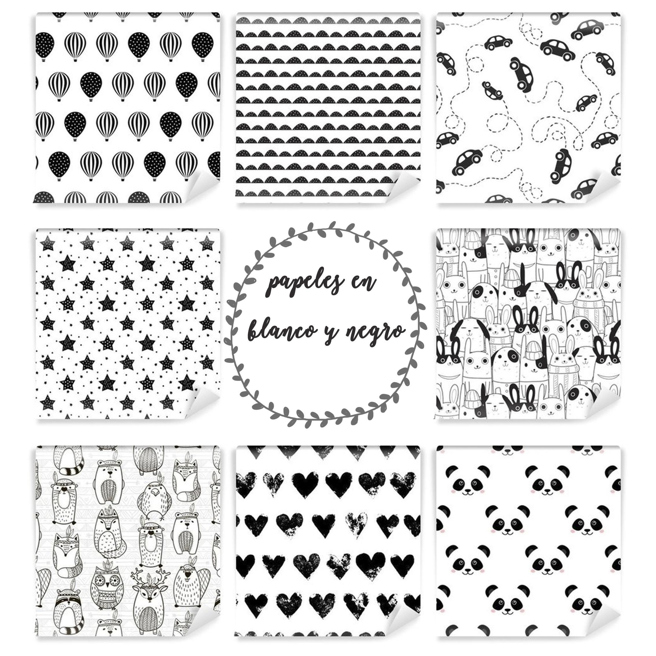 papeles pintados blanco y negro