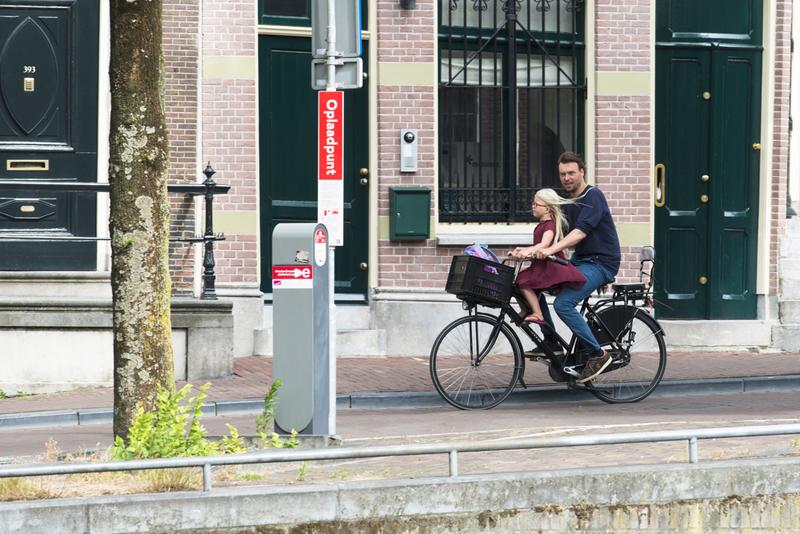 moverse en bicicleta con niños. Silla frontal