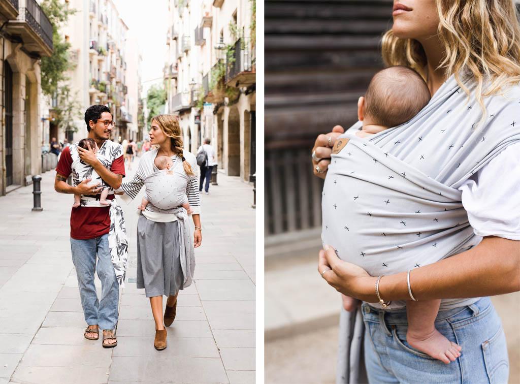 Baby on earth fular elastico pareja