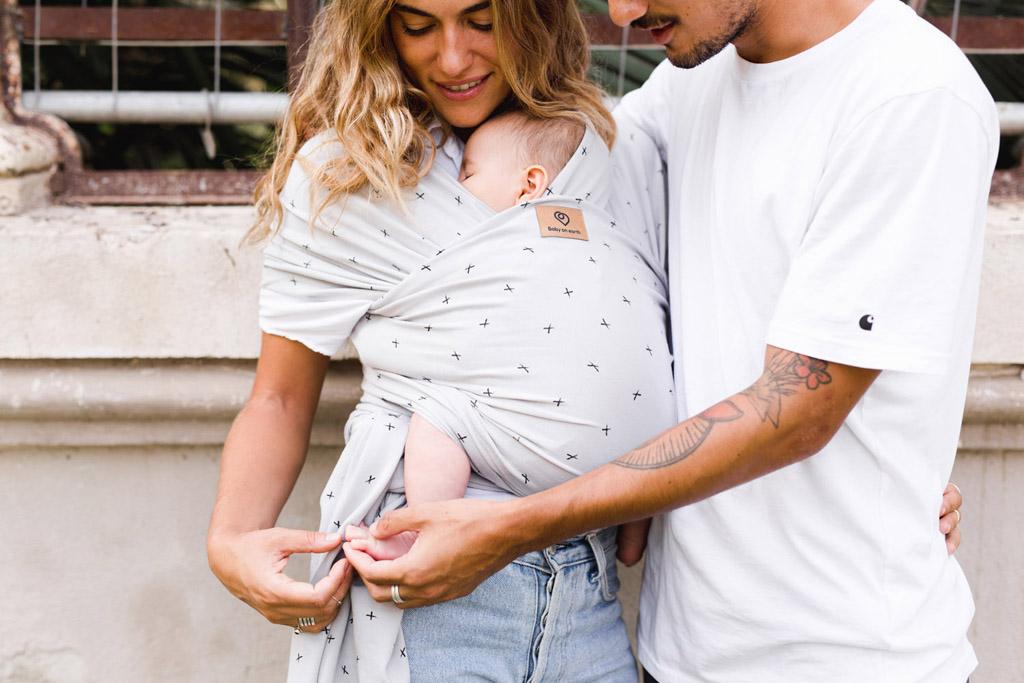 Baby on earth fular elastico portabebe cruces 1