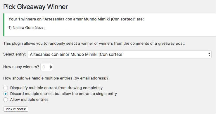 Mundo mimiki ganadora